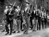 WWII Broomstick Army 1940 Photographic Print by  Anonymous