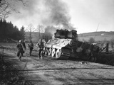 WWII Battle of the Bulge Photographic Print by Peter J. Carroll
