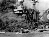 WWII Pearl Harbor USS W Virginia Photographic Print by  Anonymous