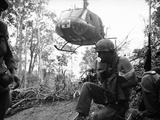 Vietnam Wounded Evacuated 1967 Photographic Print by Al Chang