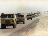 Convoy of Allied Military Vehicles Photographic Print by Laurent Rebours