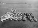 Korean War Ships Photographic Print by  Associated Press