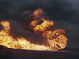 Kuwait Oil Fire Photographic Print by  Anonymous