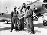 WWII U.S. Tuskegee Airmen Photographic Print by  Anonymous