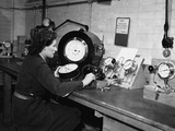 WWII Britain Women Test Instruments Photographic Print by  Anonymous