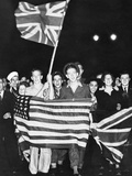 WWII VJ Day in England 1945 Photographic Print by  Anonymous