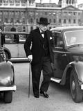 WWII England Winston Churchill Photographic Print