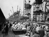 WWII London Docks Photographic Print by  Anonymous