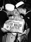 WWII Hitler Death Reaction Photographic Print by  Anonymous