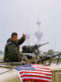1991 Gulf War Kuwait Liberation Photographic Print by David Longstreath
