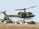 Saudi Arabia Army U.S. Marine UH-1 Huey Helicopters Photographic Print by Tannen Maury