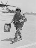 Soldier Goes Home 1972 Photographic Print by Peter Winterbach
