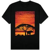 Elephant Under Broad Tree T-skjorte