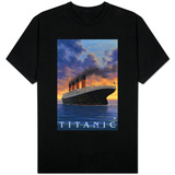 Titanic Scene - White Star Line T-shirts