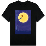 Owl on Branch with Full Moon Shirts