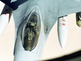 Gulf War U.S Air Force F-16 Fighter Photographic Print by  Associated Press
