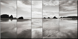 Tides on Bandon Beach Mounted Print by Alan Majchrowicz