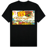 Map of Route 66 from Los Angeles to Chicago Shirt