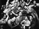 WWII Japan Surrender US Reaction Photographic Print by  Anonymous