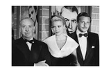 Alfred Hitchcock, Grace Kelly, and Oleg Cassini Kunstdrucke von Frank Worth