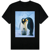 Emperor Penguins with Chick T-shirts