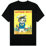 Captain Kitty T-shirts