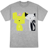 Dog, Cat and Bird Friends Shirts