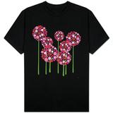 Pink Allium T-skjorter