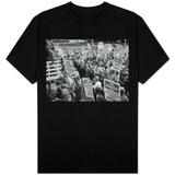 Attorney General Bobby Kennedy Speaking to Crowd in D.C. T-Shirt