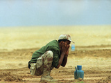 Saudi Arabia Army Kuwaiti Soldiers Prayer Kuwait Crisis Photographic Print by Diether Endlicher
