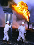 1991 Gulf War Oil Fires Photographic Print by Greg Gibson