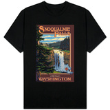 Snoqualmie Falls by Day, Washington T-shirts