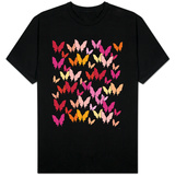 Warm Butterfly Pattern T-shirts