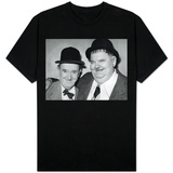Comedy Duo Stan Laurel and Oliver Hardy - in Their Dressing Room at the Newcastle Empire T-shirts