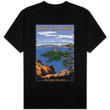 Crater Lake, Oregon - Wizard Island View, c.2009 T-Shirt