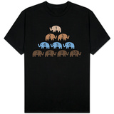 Brown Counting Elephants T-shirts