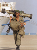 Saudi Arabia Army French Troops Kuwait Crisis Rocket Launcher Photographic Print by Tannen Maury