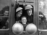 England WWII Troops Photographic Print by Len Putnam