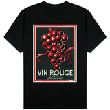 Vin Rouge De Table Wine Label - Europe T-shirts