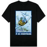 B-25 Bomber Escort Mission - P-51 Mustang, c.2008 T-skjorte