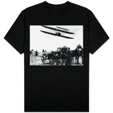Wilbur Wright with His Plane in Flight at Pau in France, February 1909 T-Shirt