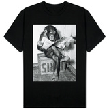 Chimpanzee Reading Newspaper T-Shirt