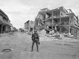 Vietnam War Cambodia Destruction Photographic Print by Henri Huet