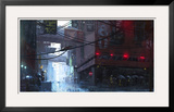 Japan Rain Framed Giclee Print by Stephane Belin