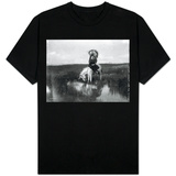 Cheyenne Indian, Wearing Headdress, on Horseback Photograph T-Shirt