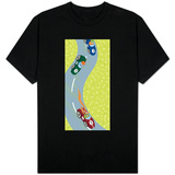 Race Car Drivers on Winding Road T-shirts
