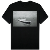 Cunard Liner Queen Mary Leaves Southampton for the Last Time for Her Retirement Berth, October 1967 T-shirts