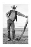 James Dean Standing at Fence Full Print by Frank Worth