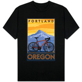 Portland, Oregon, Mountain Bike Scene T-Shirt