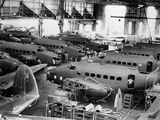 WWII U.S. Bombers for England Photographic Print by  Anonymous